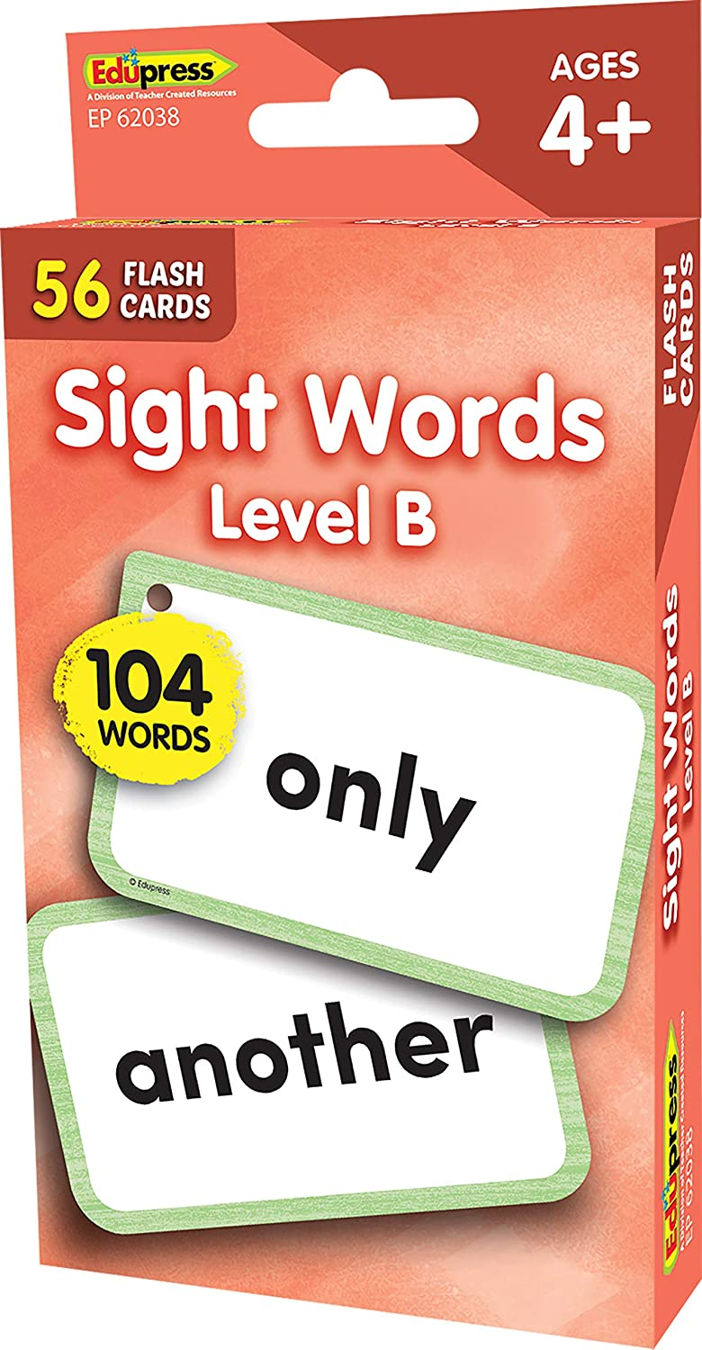 Sight Words Flash Cards - Level B
