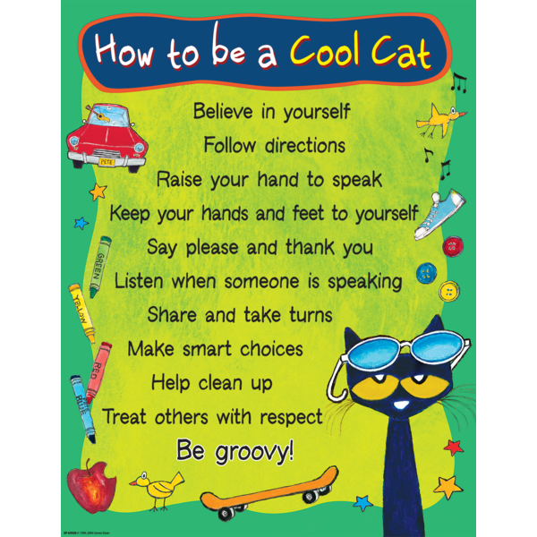 Pete the Cat How To Be A Cool Cat Chart