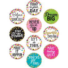 Load image into Gallery viewer, Confetti Positive Sayings Accents