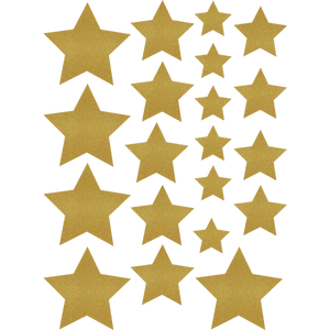Gold Shimmer Stars Accents - Assorted Sizes