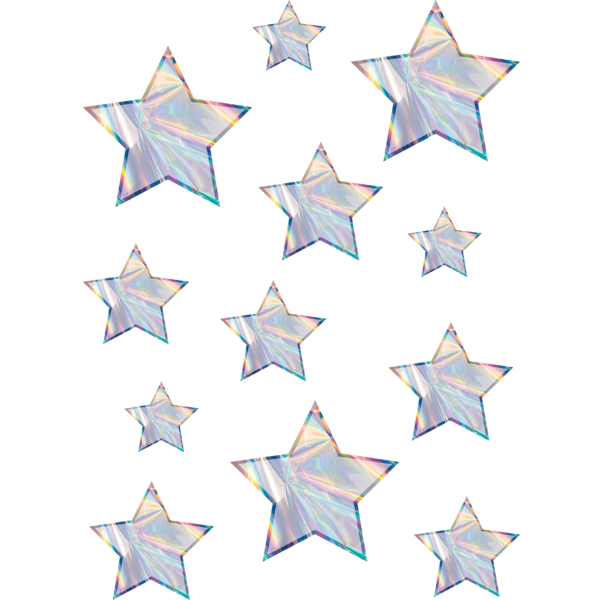 Iridescent Stars Accents - Assorted Sizes