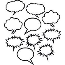 Load image into Gallery viewer, Black & White Speech/Thought Bubbles Accents