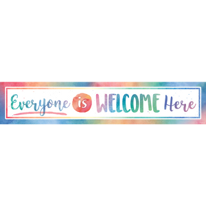 Watercolor Everyone is Welcome Here Banner TCR4394