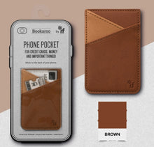 Load image into Gallery viewer, Bookaroo Phone Pocket (Brown)