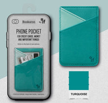 Load image into Gallery viewer, Bookaroo Phone Pocket (Turquoise)