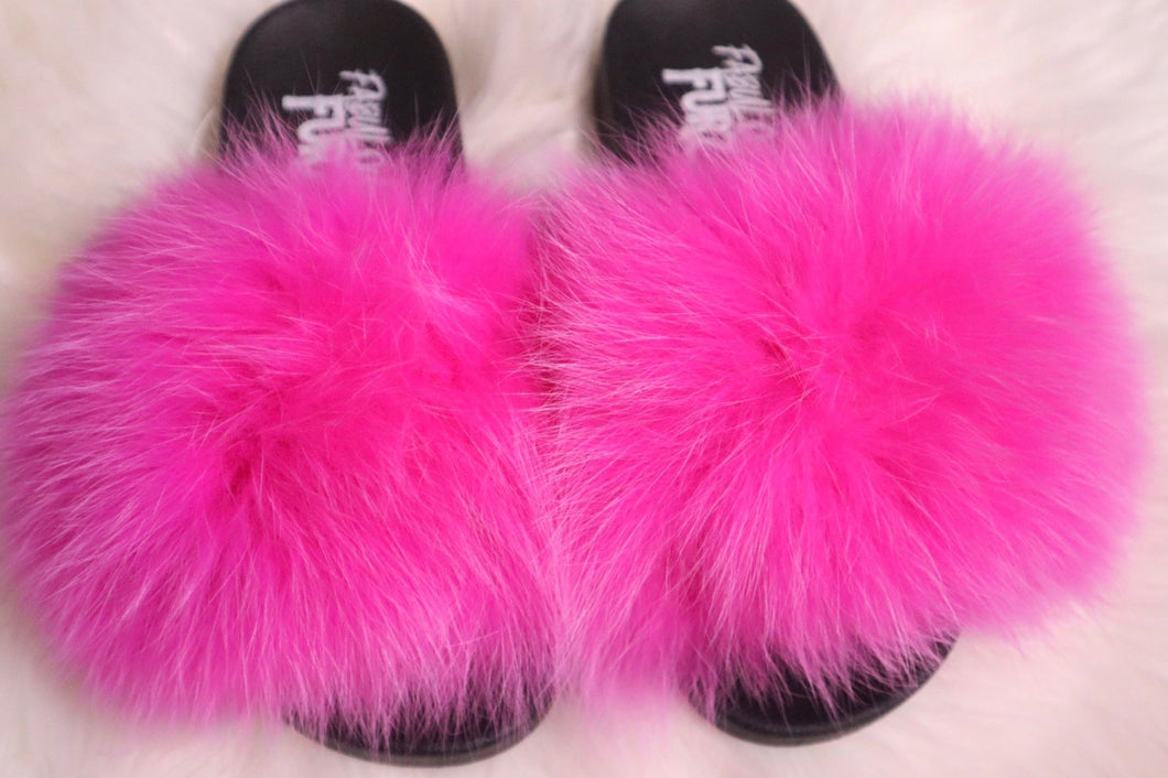 Hot pink slippers