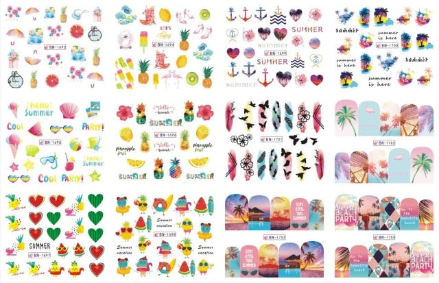 Cute Cartoon Nail Stickers Water Decals Banana - Flaunt It Beauty Supply