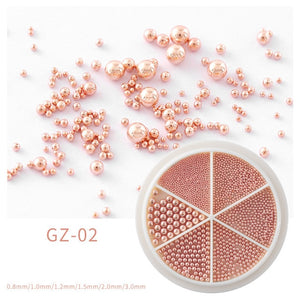 6 Grids Nail Art Caviar Beads - Flaunt It Beauty Supply