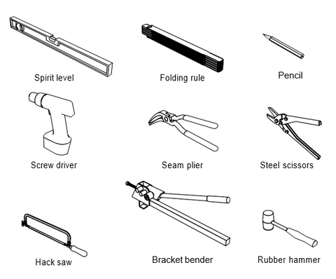 Tools for installing Lindab guttering