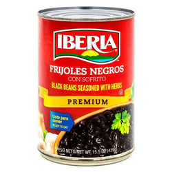 Black Beans Seasoned with Herbs Iberia Canned