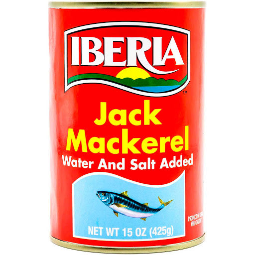 Jack Mackerel in Water and Salted Iberia Canned