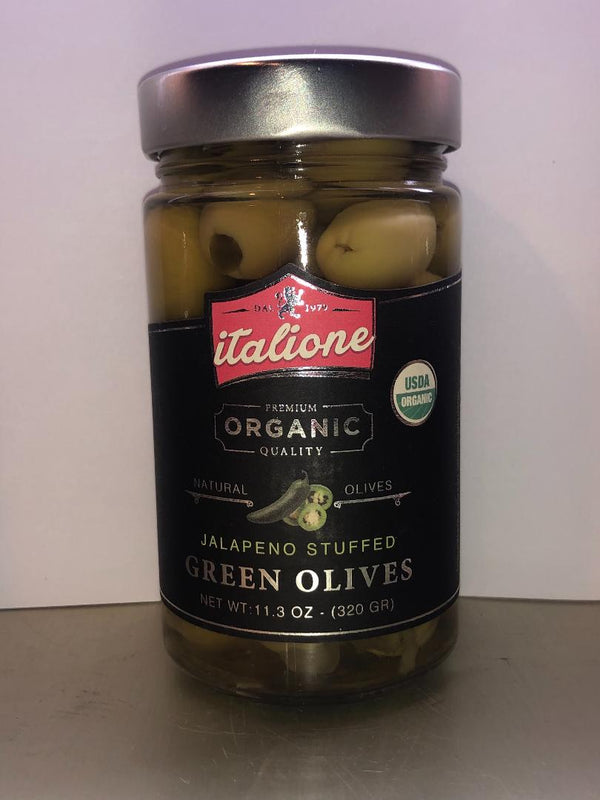 Jalapeno Stuffed Green Olives (Organic) Italione