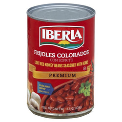 Light Red Kidney Beans Seasoned with Herbs Iberia Canned