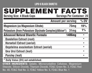 LIPO 6 BLACK DIURETIC - Nova Vita US