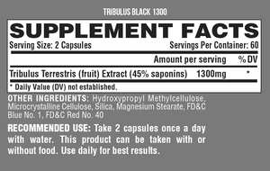 TRIBULUS BLACK 1300 - Nova Vita US