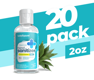 20 x 2 oz. Gel Hand Sanitizer - TotallyPure Sanitizers
