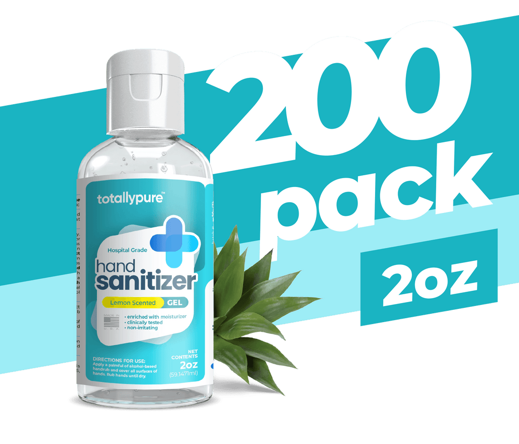 200 x 2 oz. Gel Hand Sanitizer - TotallyPure Sanitizers