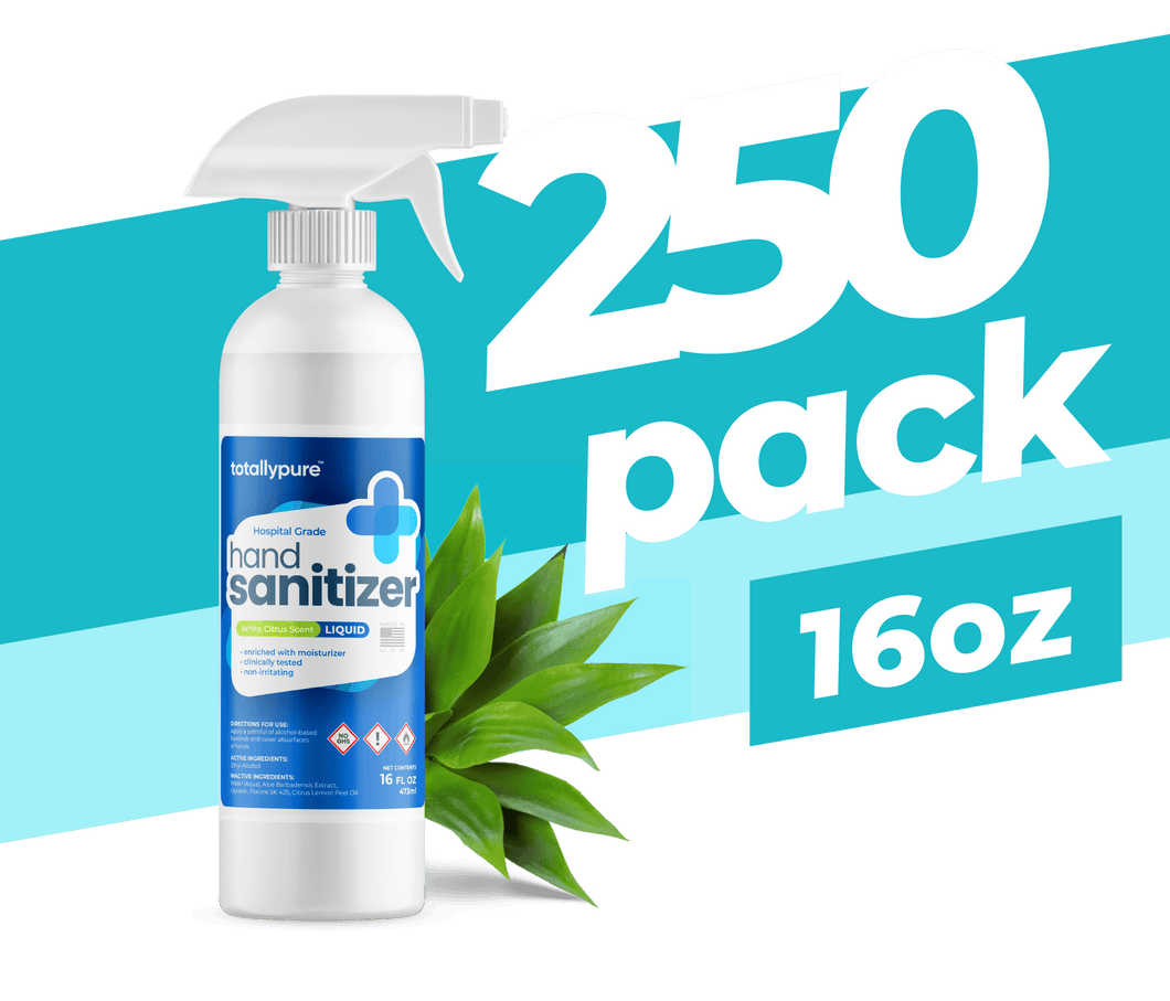 250 x 16 oz. Liquid Sanitizer Spray - TotallyPure Sanitizers