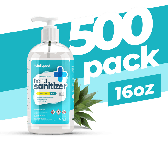 500 x 16 oz. Gel Hand Sanitizer - TotallyPure Sanitizers