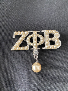 Greek Letter Pearl Lapel