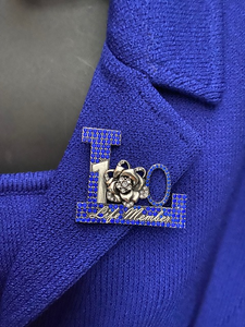 Life Member 100 Year Lapel Pin