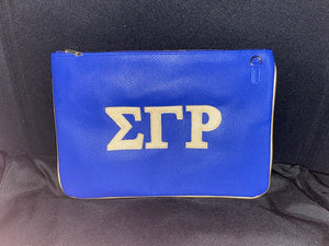Gold and Royal Blue Clutch