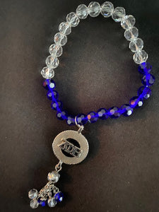 Royal Blue Clear Necklace
