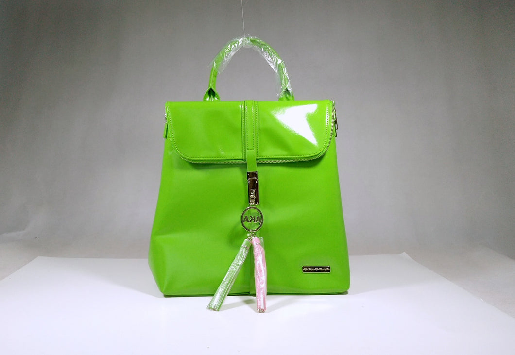 Pink and Green Tassel Backpack Handbag