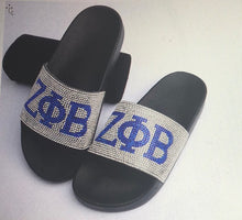 Load image into Gallery viewer, Rhinestone Slide Sandals