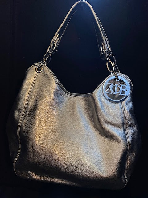Silver Hobo Bag (Real Leather)
