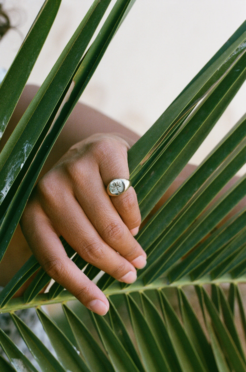 Palm Tree Signet Ring