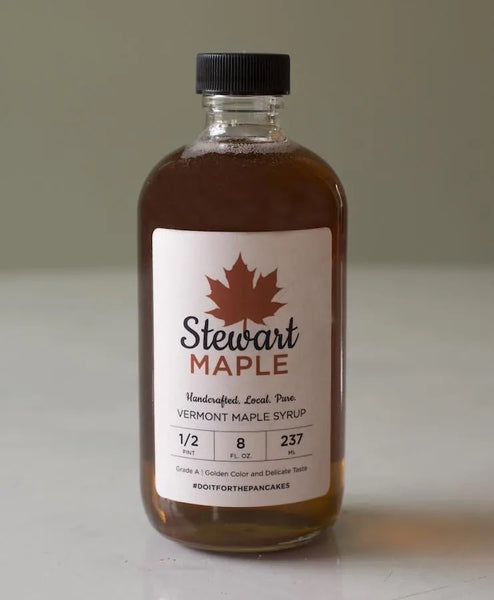 Certified Organic Maple Syrup in a Half Pint Glass Jar