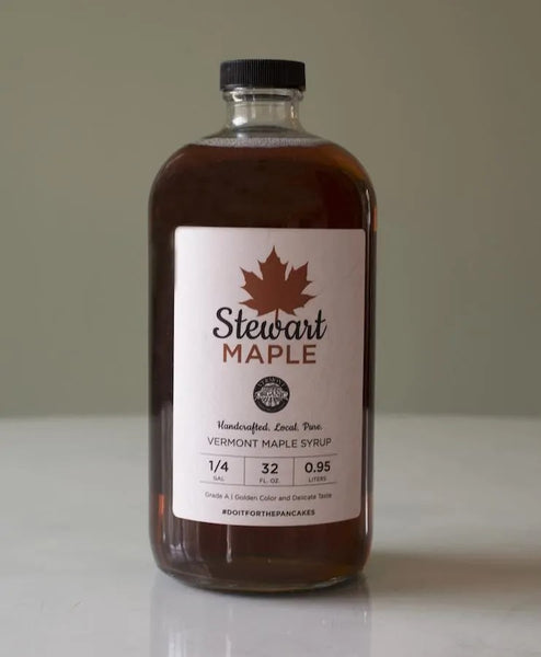 Certified Organic Maple Syrup in a One Quart Glass Jar