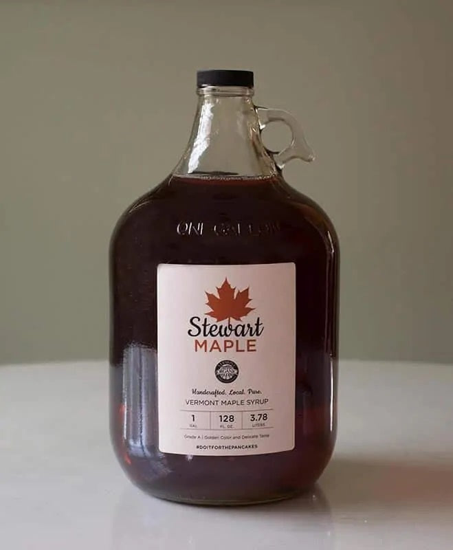 Certified Organic Maple Syrup in a One Gallon Glass Jar