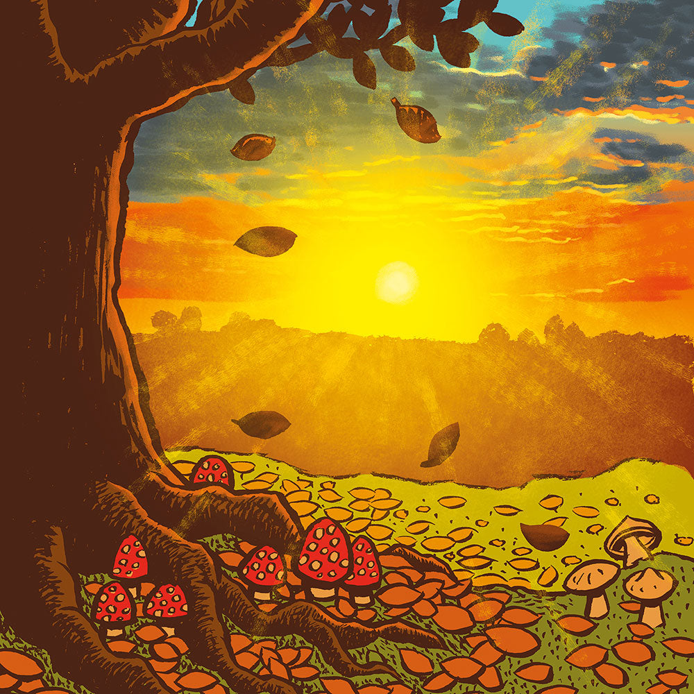 Autumn Sunset art print