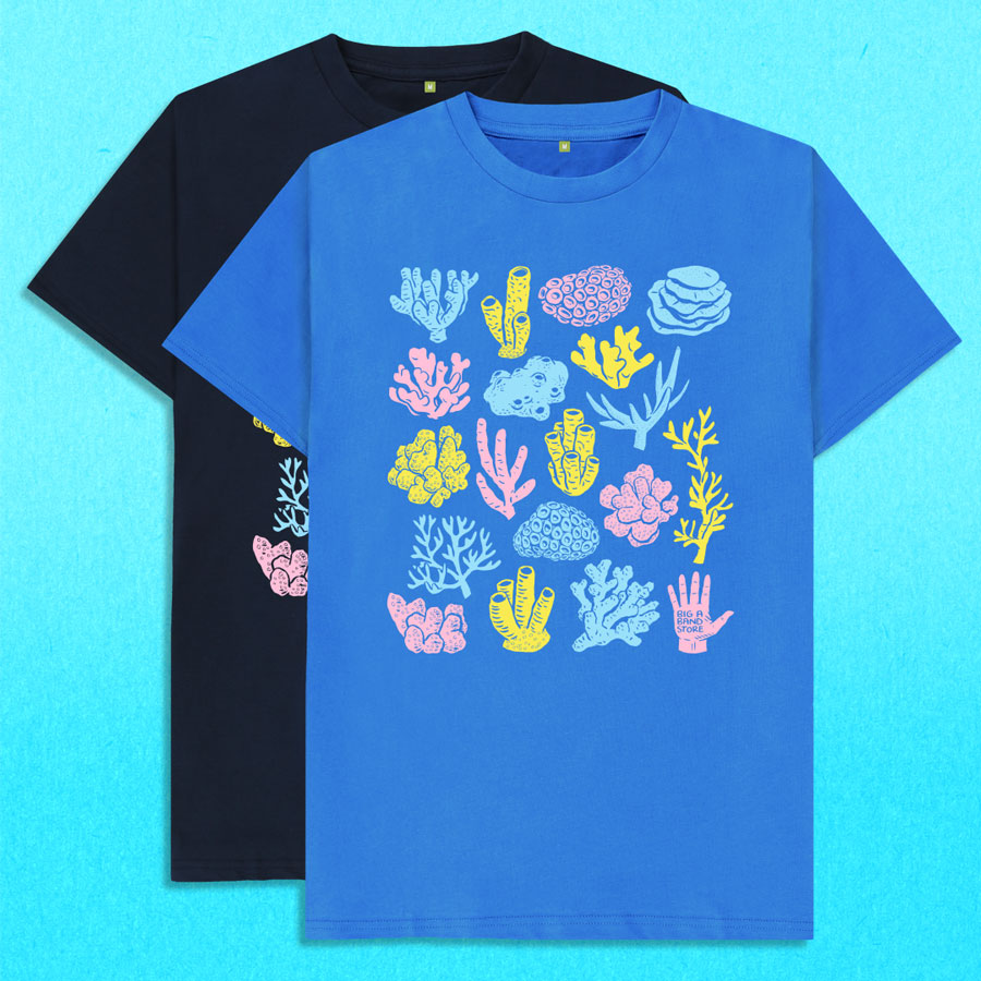 Coral pattern t-shirt