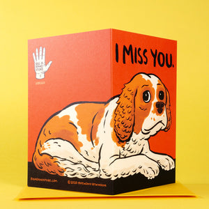 I Miss You greetings card