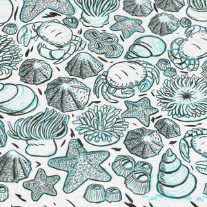 Illustrated sealife giftwrap pack