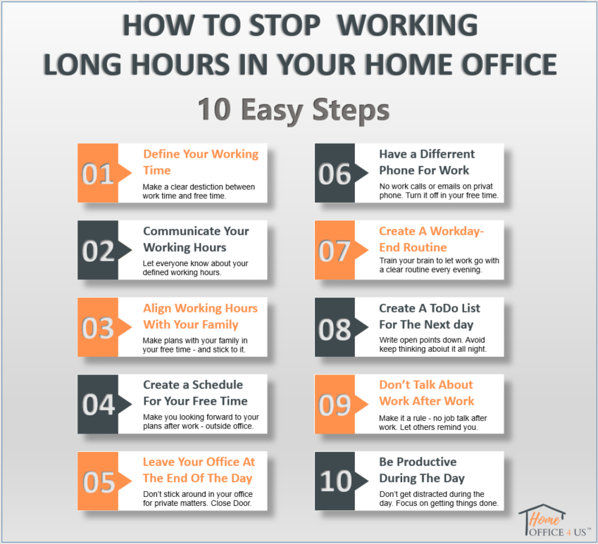 How To Stop Working Long Hours In Your Home Office