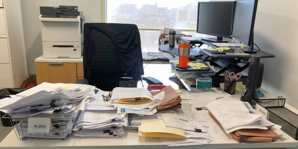 Keep your workspace tidy and uncluttered