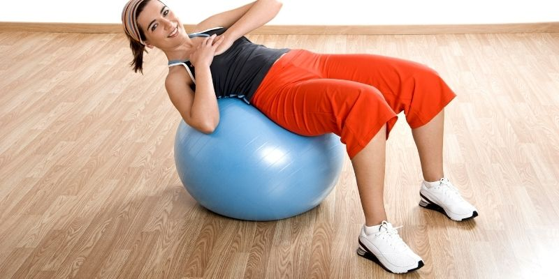 Right size of an exercise ball chair