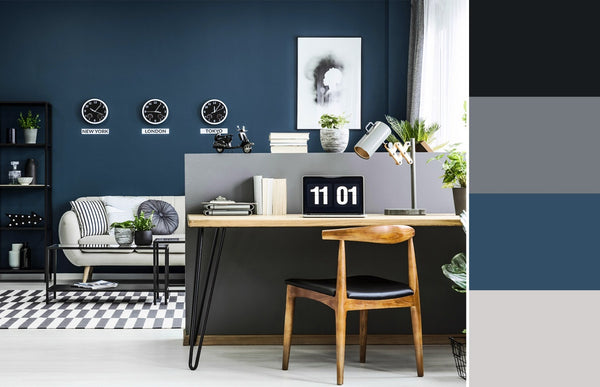 what is the best color for a home office blue