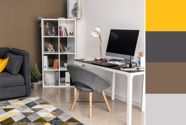 what is the best color for a home office brown