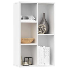 White Book Cabinet Sideboard Chipboard