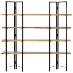 "4-Tier Bookcase 63""x13.8""x63"" Solid Mango Wood - HomeOffice4Us"