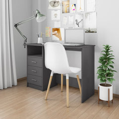Stylish Design Gray Chipboard Desk with Drawers.jpg