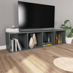 Gray Book Cabinet/TV Cabinet Chipboard