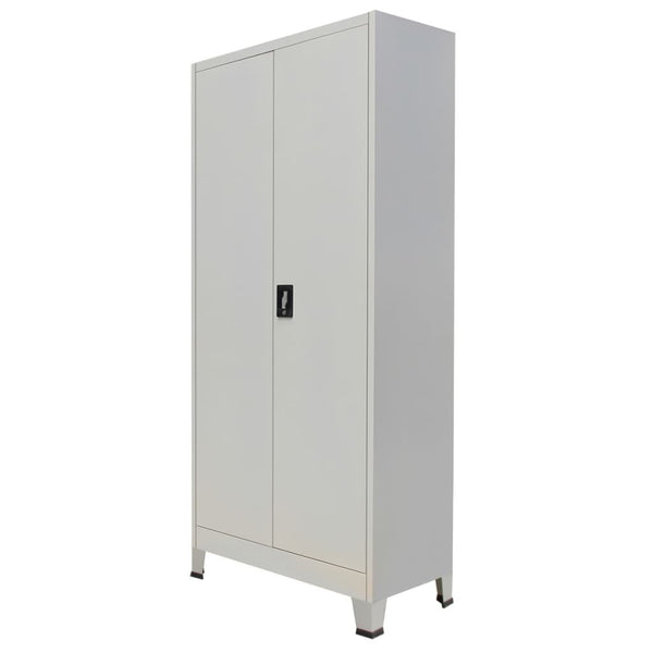 Gray Steel Office Cabinet with 2 Doors.jpg