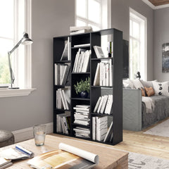 Black Room Divider Book Cabinet  Chipboard