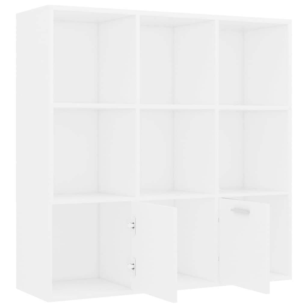 "Book Cabinet White 38.5""x11.8""x38.5"" Chipboard - HomeOffice4Us"